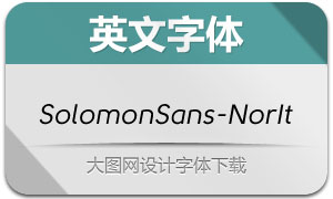 SolomonSans-NormalIt(字体)