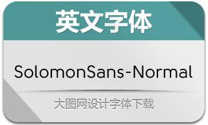 SolomonSans-Normal(英文字体)