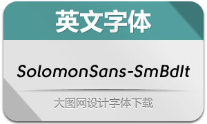 SolomonSans-SemiBoldIt(字体)