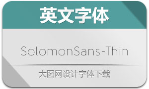 SolomonSans-Thin(英文字体)