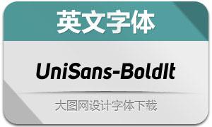 UniSans-BoldItalic(英文字体)