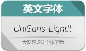 UniSans-LightItalic(英文字体)