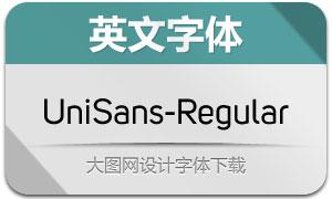 UniSans-Regular(英文字体)