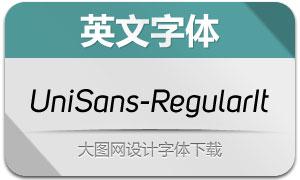 UniSans-RegularItalic(英文字体)