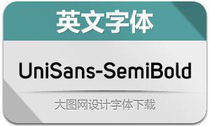 UniSans-SemiBold(英文字体)