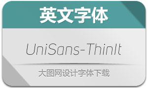 UniSans-ThinItalic(英文字体)