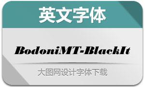 BodoniMT-BlackItalic(英文字体)