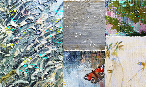 蝴蝶等西洋油画绘画艺术等矢量素材