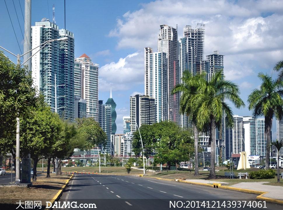 城市建筑物与道路风光摄影高清图片