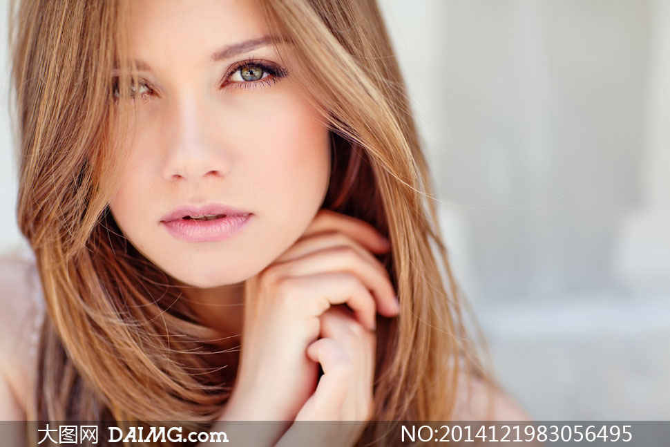 长发秀发美女模特人物摄影高清图片 - 大图网设计素材