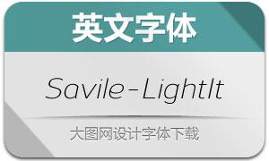 Savile-LightItalic(英文字体)