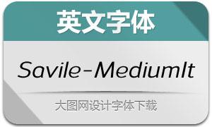 Savile-MediumItalic(英文字体)