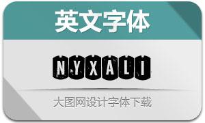 Nyxali(军牌样式英文字体)