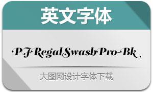 PFRegalSwashPro-Bk(英文字体)