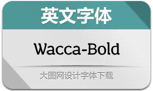 Wacca-Bold(英文字体)