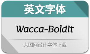 Wacca-BoldItalic(英文字体)