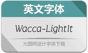 Wacca-LightItalic(英文字体)