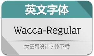 Wacca-Regular(英文字体)