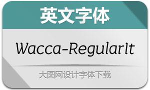 Wacca-RegularItalic(英文字体)
