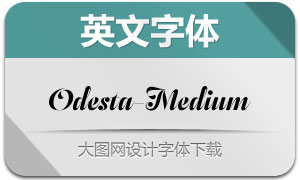 Odesta-Medium(英文字体)