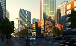城市摩天大楼等效果图PSD分层素材