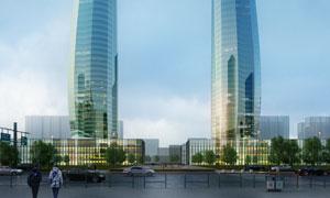 摩天大楼景观效果设计PSD分层素材