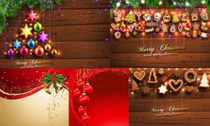 梦幻星光与圣诞气氛装饰等矢量素材