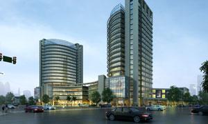 路口的百货大楼效果图PSD分层素材