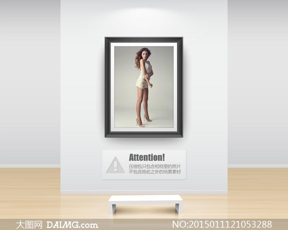 穿吊带小背心与短裤的美女高清图片 大图网设
