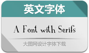 A Font with Serifs(英文字体)