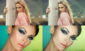歐美人像增強膚色質感PSD調色圖層