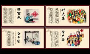 中国过年风俗文化展板PSD源文件