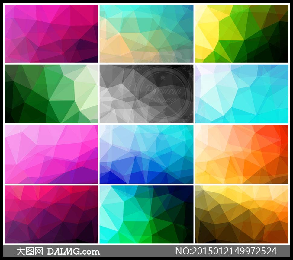 關鍵詞: 高清大圖圖片素材底紋背景炫麗炫彩多邊形幾何簡潔清爽紫色