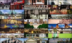 28张淘宝欧式建筑海报背景图片素材