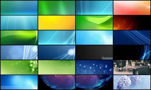 25张淘宝绿色清新海报背景图片