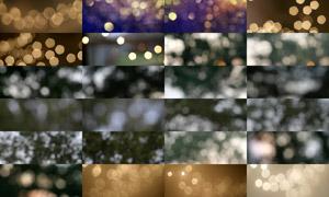 25张淘宝金色和暗色光斑海报背景图片