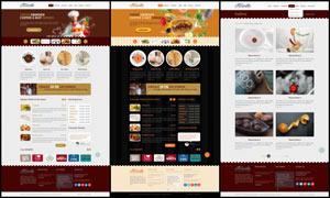 欧美蛋糕店网页全套模板PSD素材