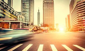 繁华城市大楼建筑风光摄影高清图片