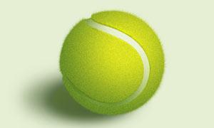 逼真的立体网球PS教程源文件