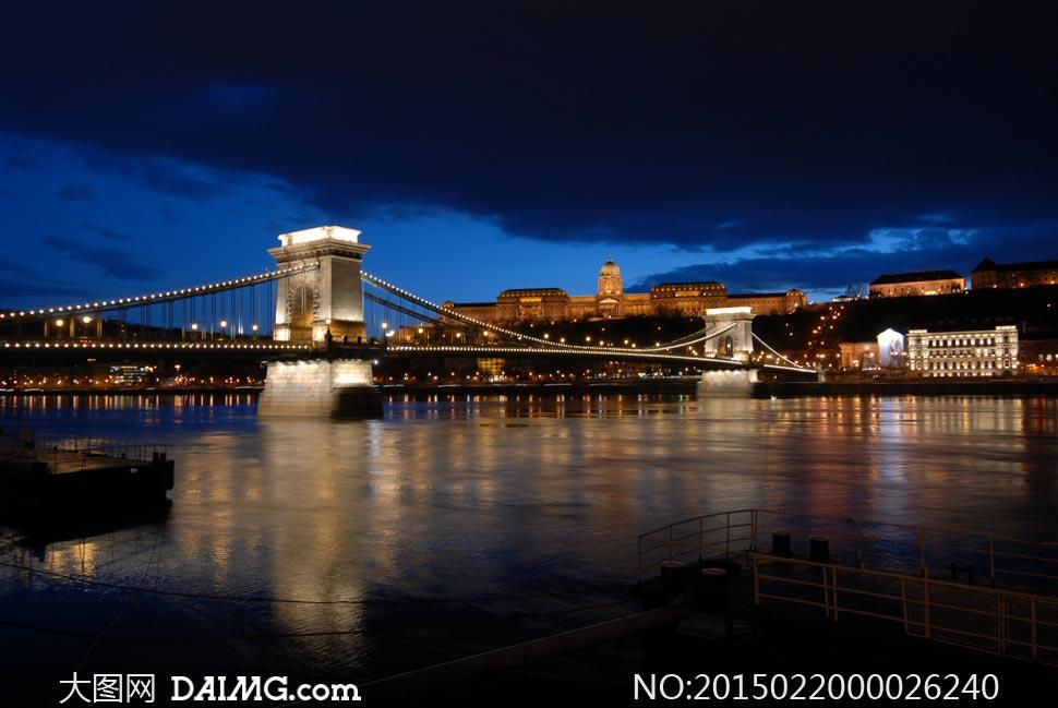 欧式建筑城市夜景