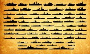 海軍軍艦和潛艇圖形PS形狀