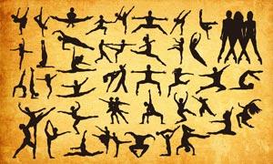 藝術舞蹈人物剪影PS形狀