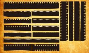 殘破電影膠片邊框PS形狀