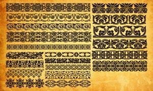 歐式花紋邊框PS形狀
