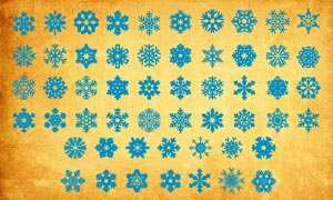 各種樣式的雪花PS形狀