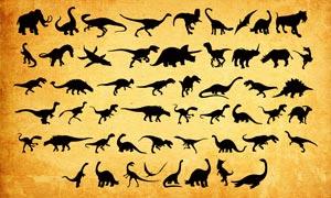 恐龍剪影大全PS形狀