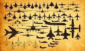 各種戰斗機和飛機PS形狀