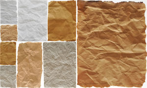撕边褶皱效果怀旧纸张PSD分层素材