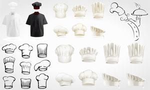 大厨帽子与衣服等创意设计矢量素材图片