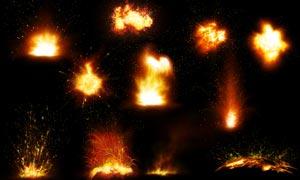 超酷的燃烧火焰火苗PSD分层素材